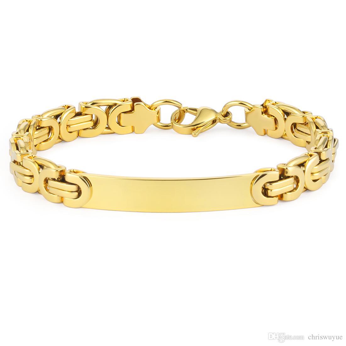 عالية الجودة رجل الهيب هوب سوار الفولاذ الصلب شقة البيزنطية سلسلة أساور روك مجوهرات الشرير بنين بالجملة 220 ملليمتر 8.7 بوصة