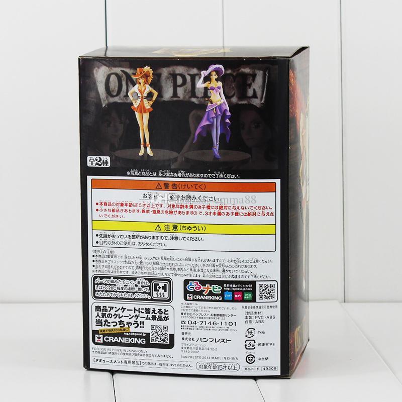 Anime One Piece Nico Robin Nami Sexy Figure Grandline Lady 15th Anniversary PVC Action Figure Model Toy 17cm EMS