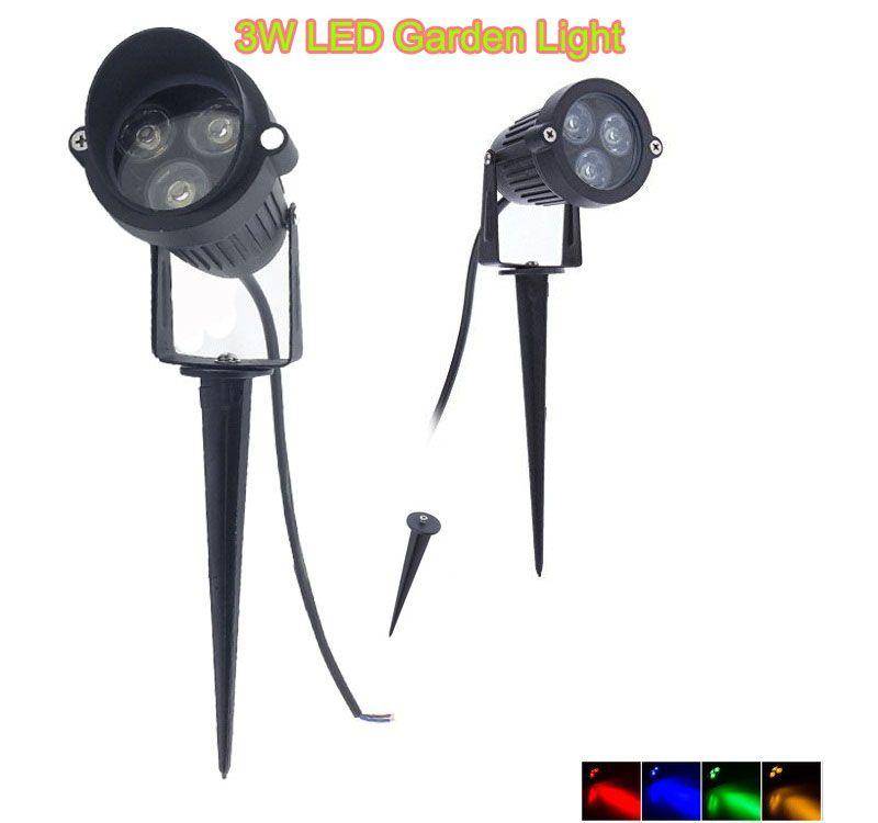 2 STÜCKE 3 Watt AC85-265V 12 V LED Garten spike licht Outdoor LED Flutlicht IP65 Wasserdichte Projektor Pfad Landschaft Spot Licht Sicherheit Rasen lampe