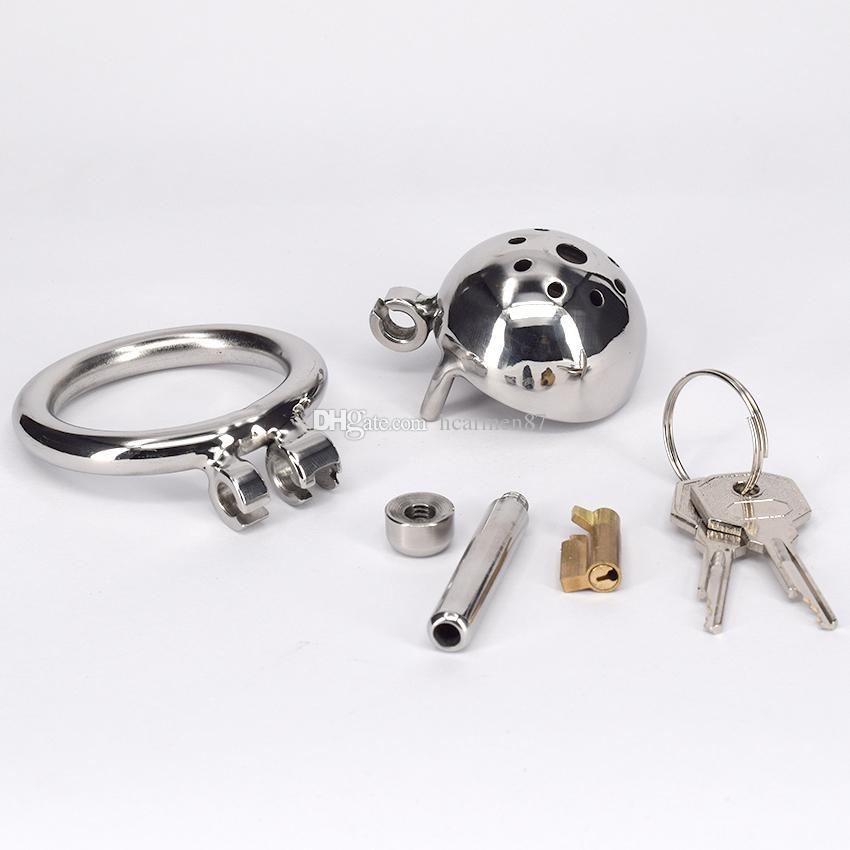Dispositivo di castità in acciaio inox con metallo DILATORI URTRALI Giocattolo del sesso uomo maschio adulto Gabbia di schiavitù Prodotto fetish
