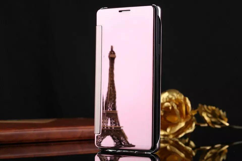 Mirror flip Case for Iphone 7 8 plus X Samsung S8 S9 plus S6 S7 edge view Wallet Smart Wake up Sleep Electroplated cover