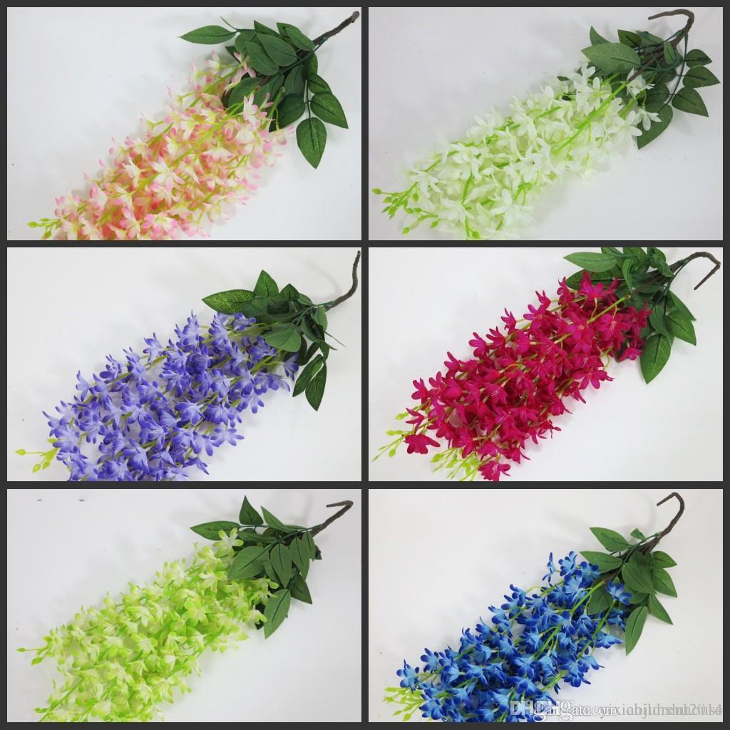 2018 Upscale Elegant Artificial Silk Flower Wisteria Vine Rattan For