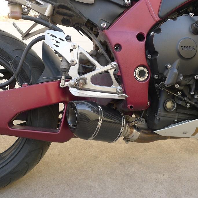 R1 YAMAHA تعديل العادم FLAME دراجة نارية العادم الأنابيب