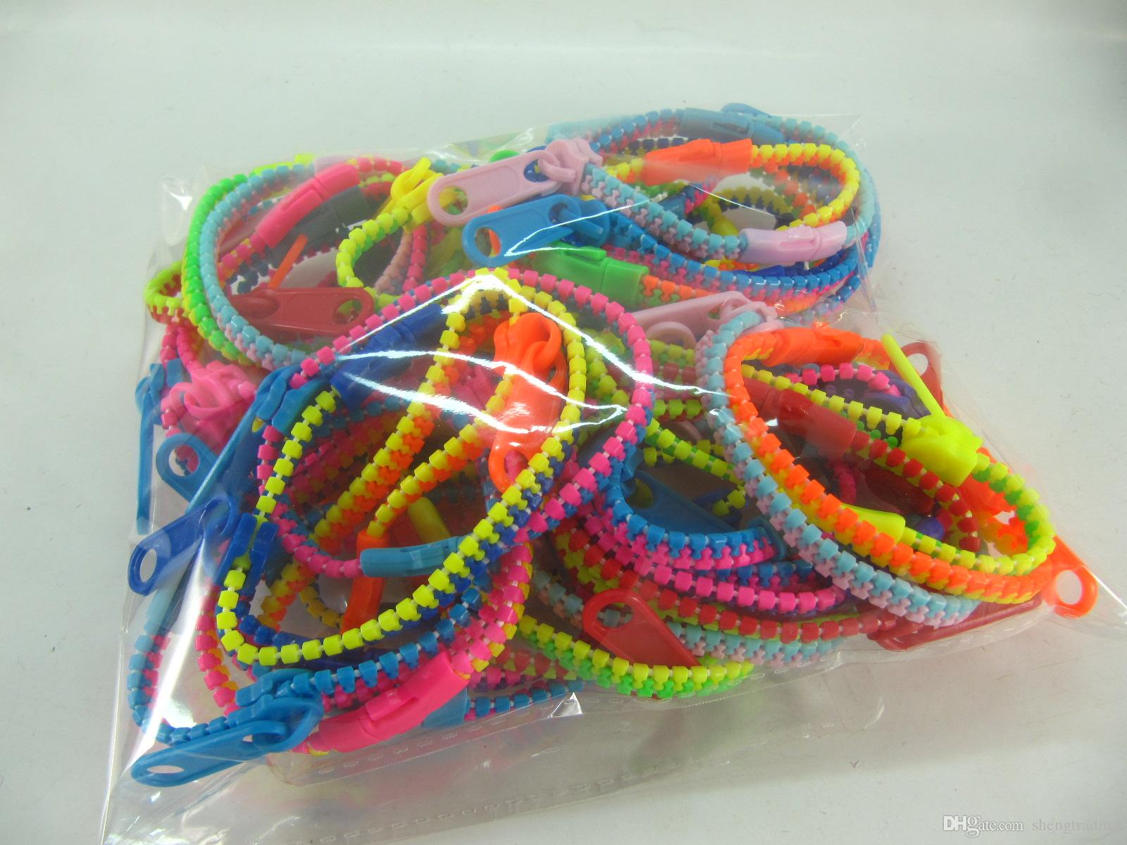 jewelry Zipper style vary colors girl women bracelets wristbands free post
