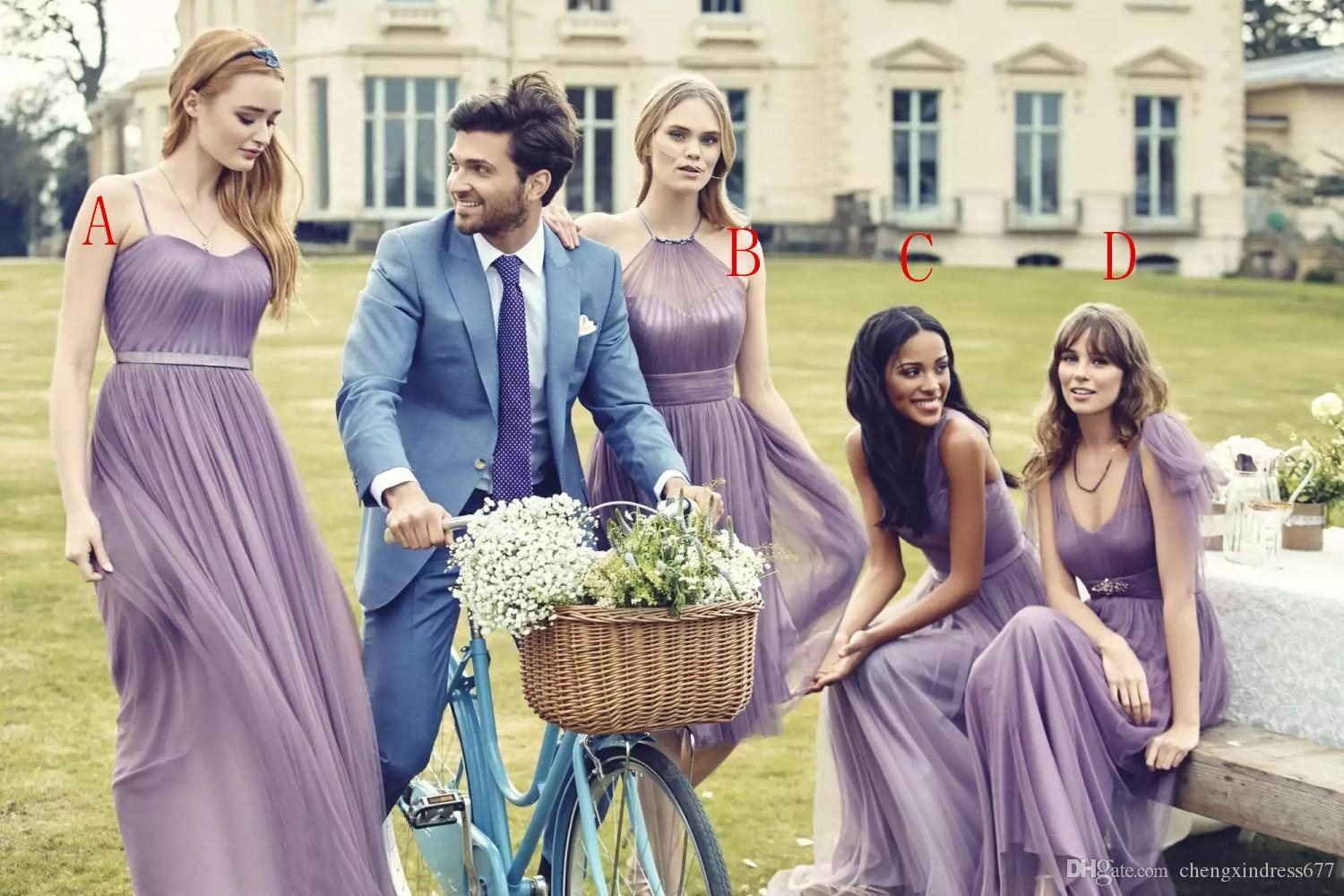 Four style bridesmaid dresses long purple sleeveless bridesmaids four style bridesmaid dresses long purple sleeveless bridesmaids girls dress cheap 2016 kelseyrose new arrival bridesmaids tulle prom gowns junior ombrellifo Choice Image