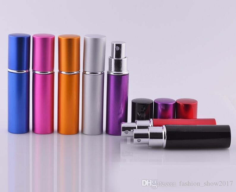 5ml Mini Parfüm Şişesi Seyahat Doldurulabilir Boş Kozmetik Konteyner Parfüm Şişesi Atomizer Alüminyum Doldurulabilir Şişeler Sprey