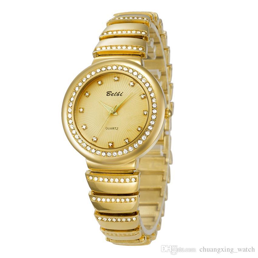 Compre Top De Las Señoras De Lujo Relojes De Pulsera De Cuarzo De La  Batería De Oro O De La Astilla Mira Venta Caliente A  14.07 Del  Chuangxing watch ... 32e218146c89