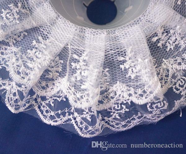Schöne Hochzeit Braut Braut Blumenstrauß Halter Griff Weißer Spitze Kragen Blumenhalter