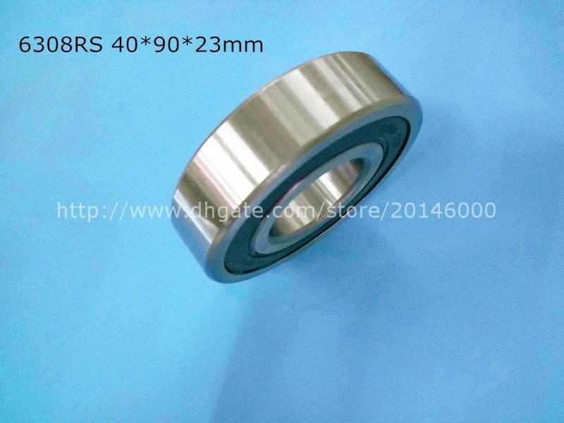 6308RS 1 pezzo cuscinetto spedizione gratuita 6308 acciaio cromato cuscinetto a gola profonda 6308 6308RS 40 * 90 * 23 mm