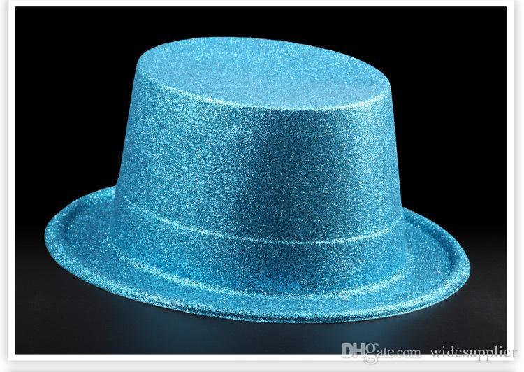 Halloween Ball Performance Performance Hats Hats Hats Hat Hat Lincoln Cap Magician Hat Gold Powder Hat Caps Caps