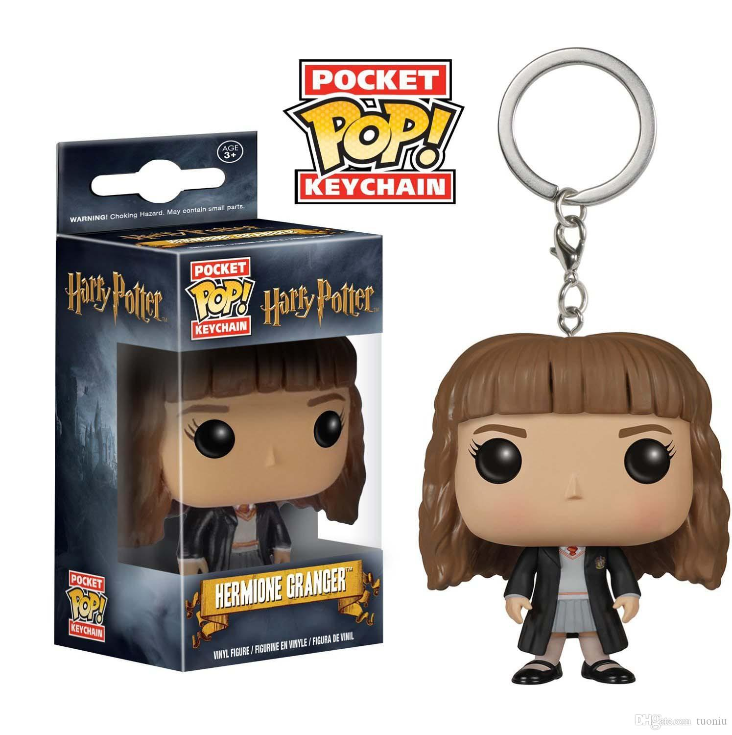 34 Designs Funko POP Action Figurines Toys Keychain Avengers Harry Potter Wonder Woman PVC Cartoon Action Figures Keychain Kids Gifts