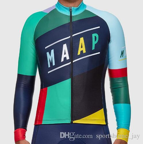 nuovo arriva 100% poliestere 2016 maap squadra bicicletta bici giacca manica lunga ciclismo pullover ciclismo abbigliamento spedizione gratuita