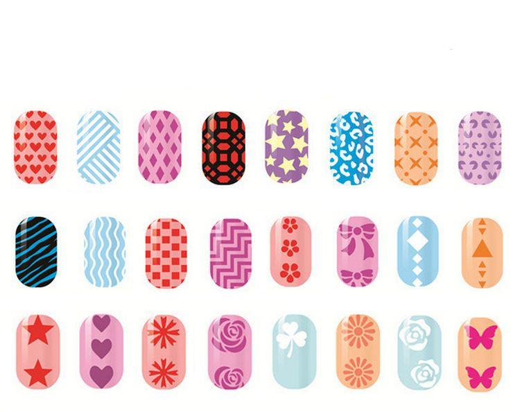 New Nail Art Stencils Vinyls Print Sticker Nail Art Stickers Nail ...