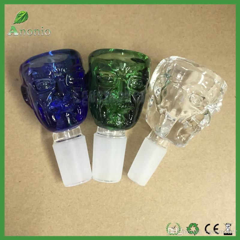 Smoking Bowls Breaking Bad Walter White Glass Bowl With 14mm 18mm Male Joint Mr White Colorful Glass Bowls for Glass Bong Water Pipe