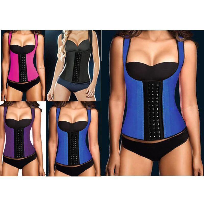 127f3b264a66a Latex Body Shaper Women Slimming Vest Thermo Neoprene Waist Trainer  Neoprene Sauna Vest Waist Training Sport Waist Tummy Shaperwear 0886 UK  2019 From ...