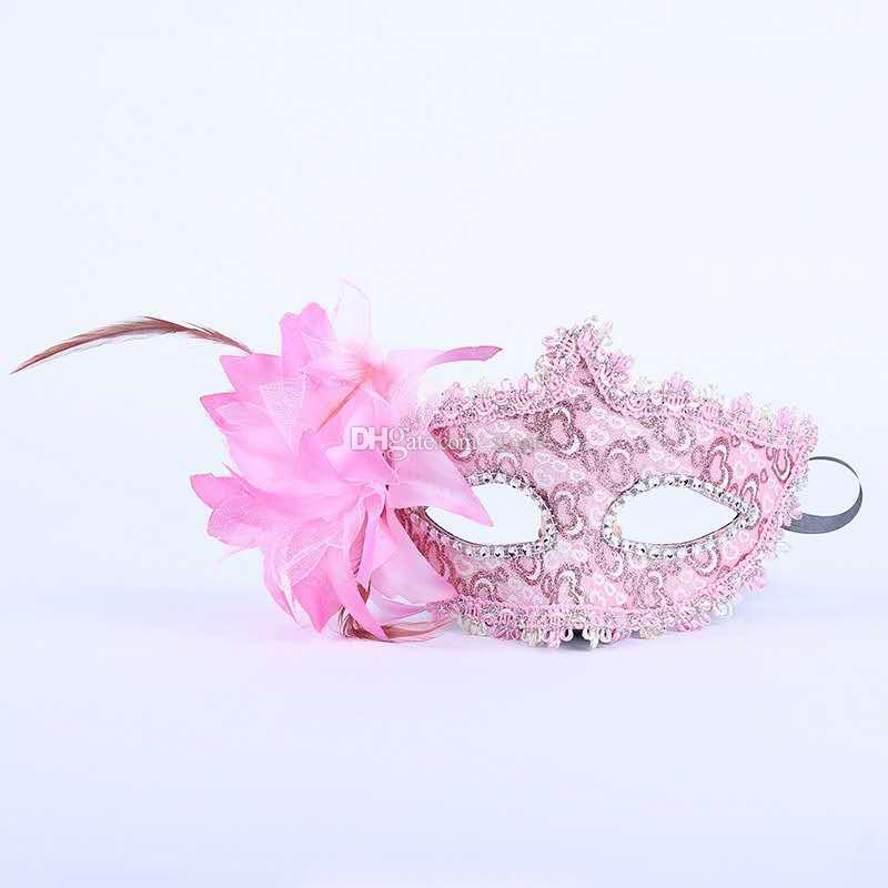 2017 Mujeres de La Manera Máscara Sexy Hallowmas Veneciana máscara de ojos mascarada con fiesta de baile de Pascua fiesta máscara envío libre