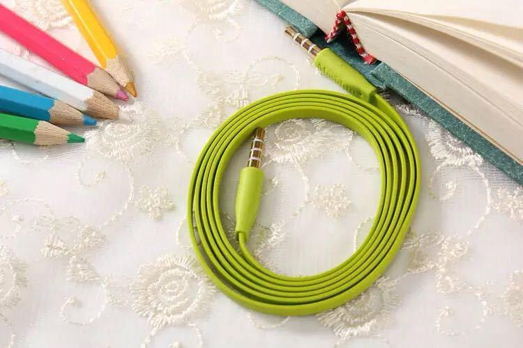 Colorful 1M Auxiliary Aux Audio Cable 3.5mm Jack Male to Male Cord for PC Phone MP3 Car for Gift