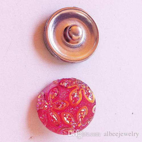 / Mix Couleurs Mode Plastique Bauhinia Fleur Noosa Chunks Métal Gingembre 18mm boutons pression pour résultats de bijoux bracelet diy