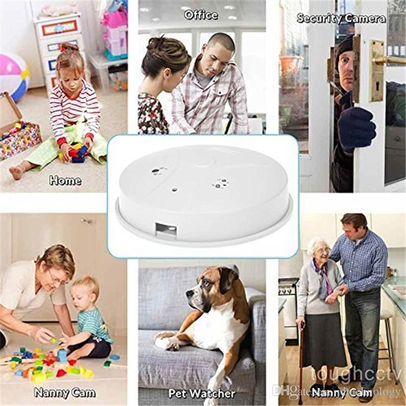 Motion Detection DVR HD 720P Mini Security Camera With Remote CCTV Camera Smoke Detector Video Recorder Nanny Cam Security Camcorder