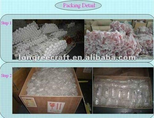 Lustres de verre de murano soufflé à la main Décor à la maison Grand lustre blanc Ligjting à vendre
