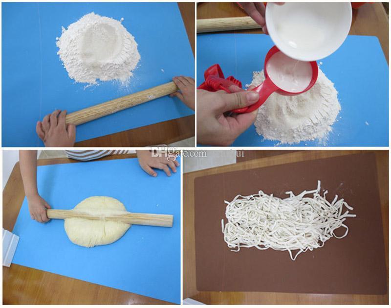 60 * 40 سنتيمتر اضافية كبيرة سيليكون نونستيك الخبز حصيرة سادة reusable الخبز العجن حصيرة الخبز المعجنات أدوات الحرة shiping WX9-50