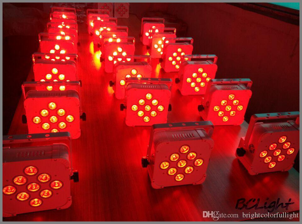 8X charging road case High quality battery wireless dmx led par can for wedding DJ KTV Party Event decor led Uplight