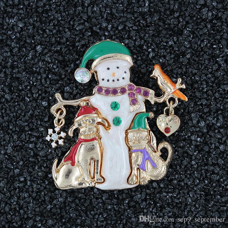 Broche de natal Novo Estilo Da Senhora Adorável Broches Moda Jóias Árvores De Natal Broche Roupas Decor Presentes de Natal