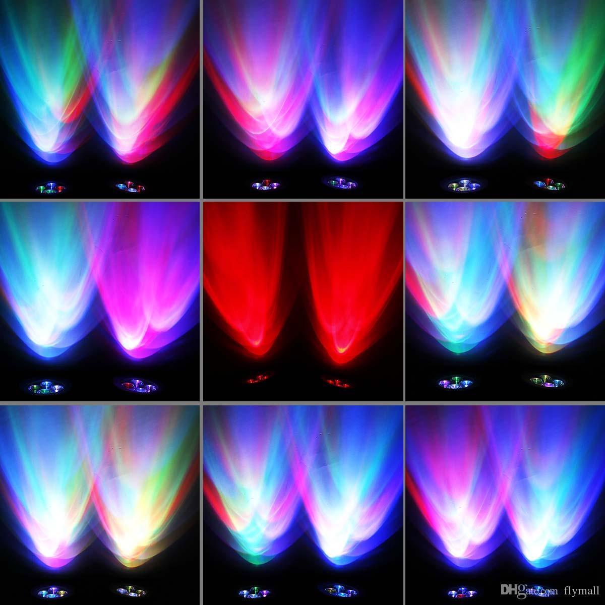 Lumineux Solaire RGB Solaire Led Spotlight alimenté solaire 8 LED Spot Light Lampe solaire étanche 2 Mise à jour de la lumière Version 360 ° Angle Réglable
