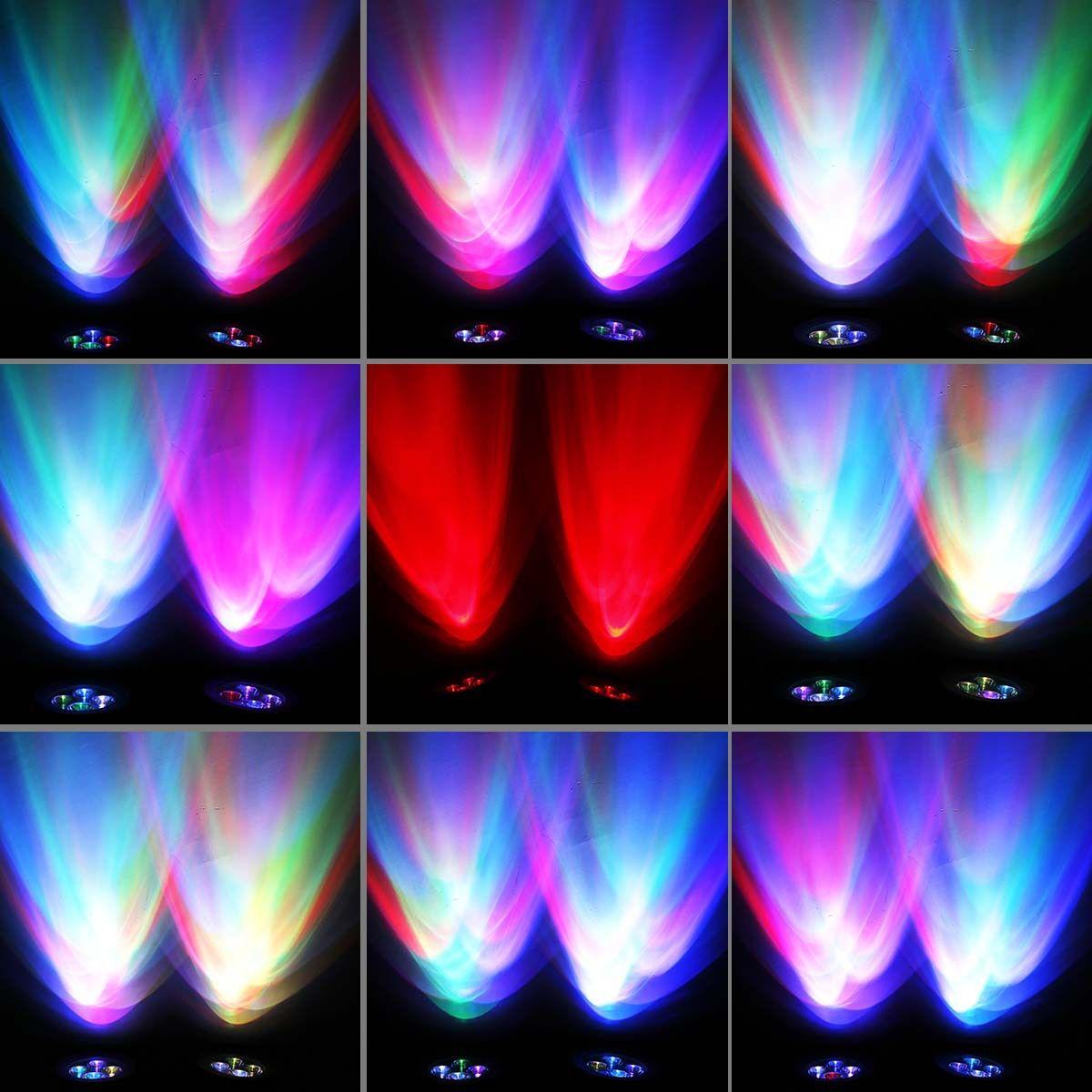 Супер яркий RGB Солнечный светодиодный прожектор на солнечных батареях 8 светодиодный прожектор водонепроницаемый Солнечный светильник 2 свет обновление версии 360° угол регулируемый