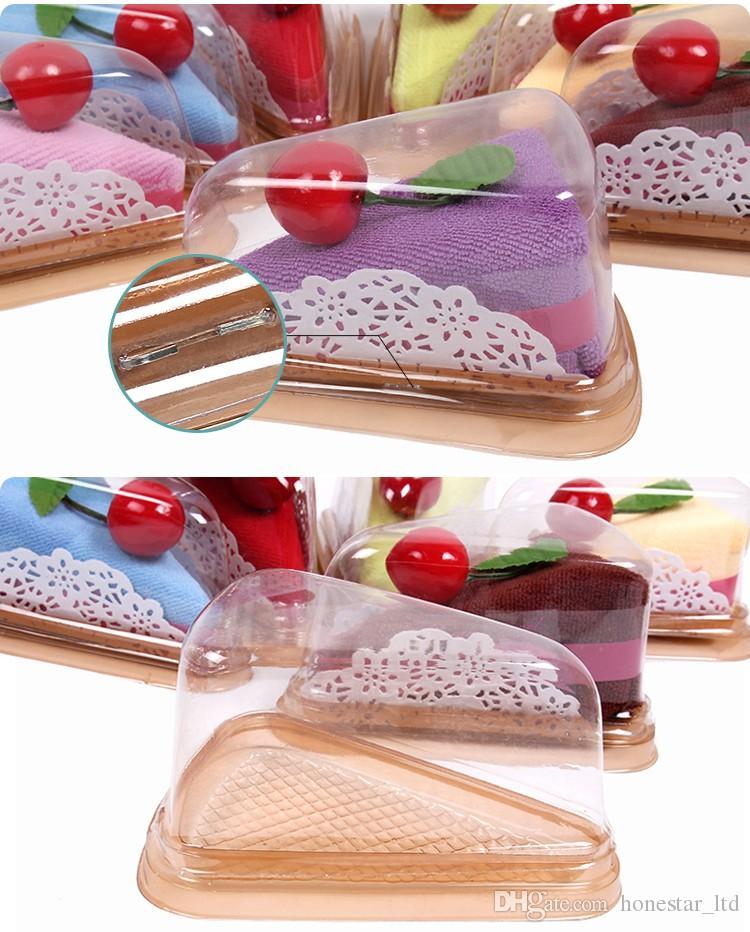 Adorável Toalhas de Rosto Mini Sanduíche forma Bolo Toalha de Algodão Crianças Toalha de Mão Toalha de Festa de Casamento Presentes 20x20 cm