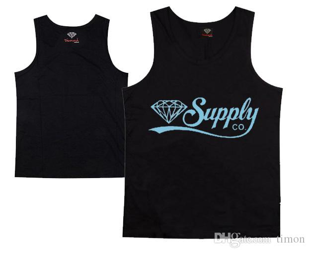 diamond supply co tank tops muscle brand new hip hop tank tops men's sleeveless vest hiphop shirt