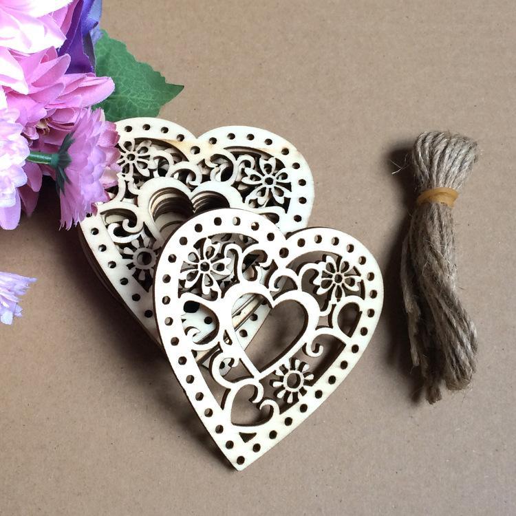 Enfeites de Casamento de Coração de madeira Quente Decorações Casa Grarden festa de Aniversário dos Namorados pendurado adereços atacado, frete grátis, por saco