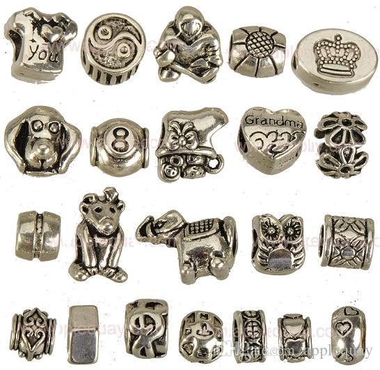Charms Beads For Jewelry Making DIY Pandora Snake Chains Bangles Necklaces Owl Silver Large Hole Metal Crafts Accessories 10*8*7mm