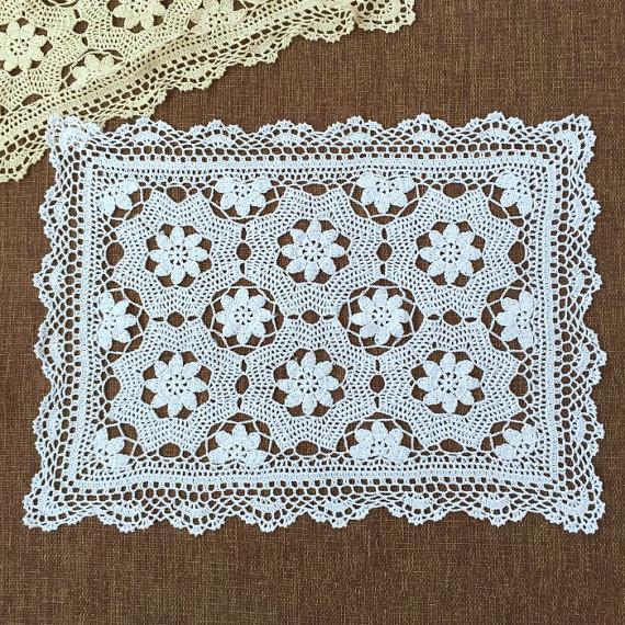 New Crochet Pattern Rectangular Tablel Cover 100 Handmade Crochet