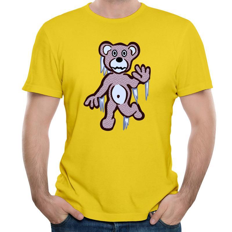 뜨거운 판매 3d 티셔츠 인쇄 휴면 곰과 남자의 짧은 소매 티 셔츠 팝 의류 흰색 패션 티 셔츠 파란색 / 흰색 / 검정