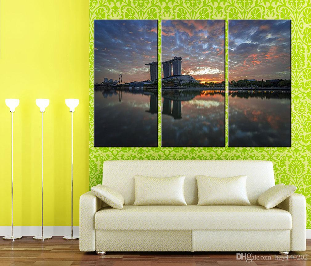 YIJIAHE Modern Print Canvas Painting The Setting Sun Canvas Art Wall Pictures For Living Room Large Wall Art CHS222