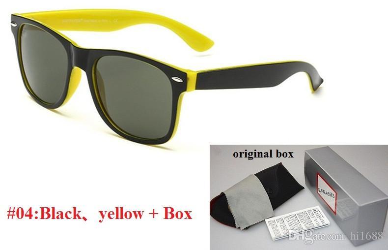 Qualitäts-Plank-Sonnenbrille Black Frame Grüne Linse Sonnenbrille Metallscharnier-Sonnenbrille-Männer Sonnenbrille-Frauen-Brille Unisex-Sonnenbrillen