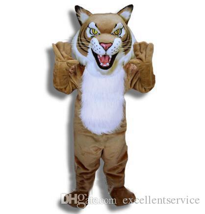 2016 Hot Selling Tiger Mascot Wildcat Cat Mascot Costume Suit Halloween Christmas Birthday Plus Size Costumes Cowgirl Costume From Excellentservice ...  sc 1 st  DHgate.com : tiger head costume  - Germanpascual.Com