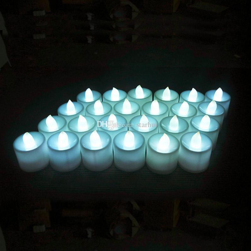 24 шт./компл. светодиодные электронные свечи фестиваль Праздник электрические поддельные свечи мерцание лампы батарейках беспламенного лампы WX9-55