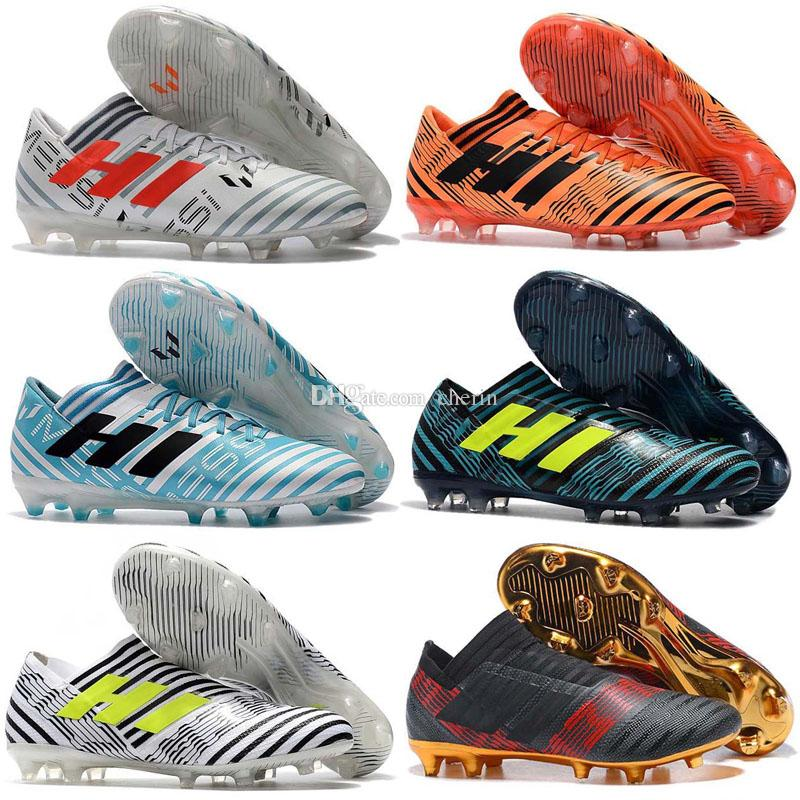 f88dba2ab74 2019 Hots Sale 2018 100% Original Nemeziz Messi Tango 17.3 TF Soccer Shoes  Mens Soccer Boots Indoor Soccer Cleats From Cherin