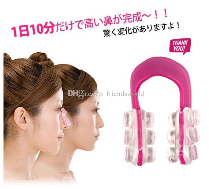 Nose UP Silicone Beauty Clip Lifting Shaping Clipper No pain Rhinoplasty Lift Up Slimmer Smaller Align Shape Clip Wrap