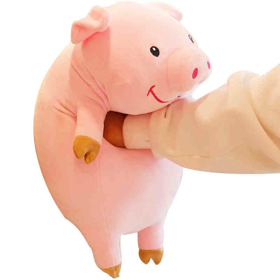 2019 Cute Cartoon Plush Pig Stuffed Animals Soft Toy Pillow Pink