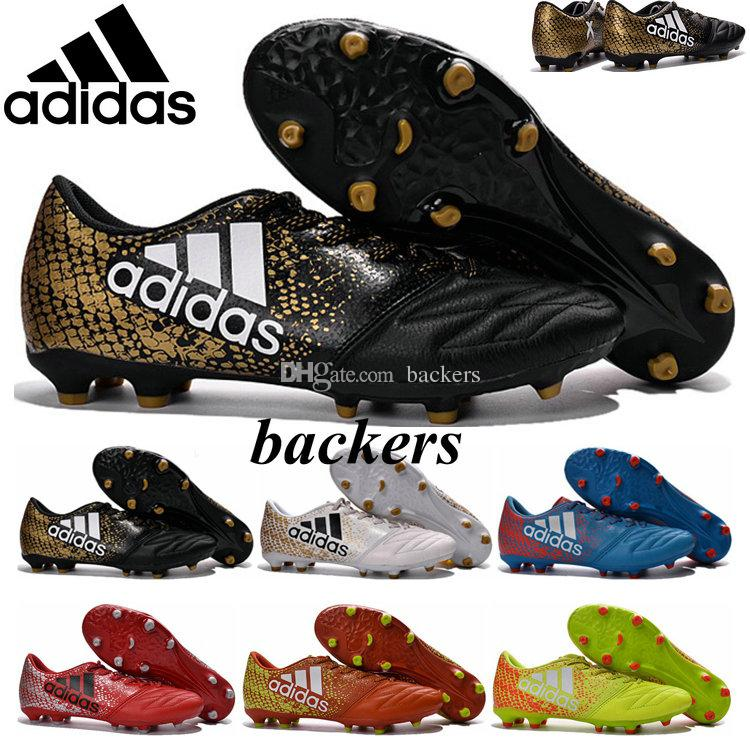 size 40 16475 09417 2019 Original Adidas X 16.3 FG Boots Soccer Boosts Cleats Men Football  Shoes Cheap Originals Man Sneakers Black Gold Size 39 45 From Backers, ...