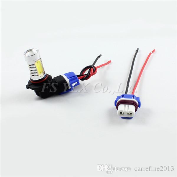 Ceramic 9005 9006 HB4 LED socket bulb pigtail plug harness 9005 HB3 LED bulb holders Ceramics H7 9006 9005 connectors sockets