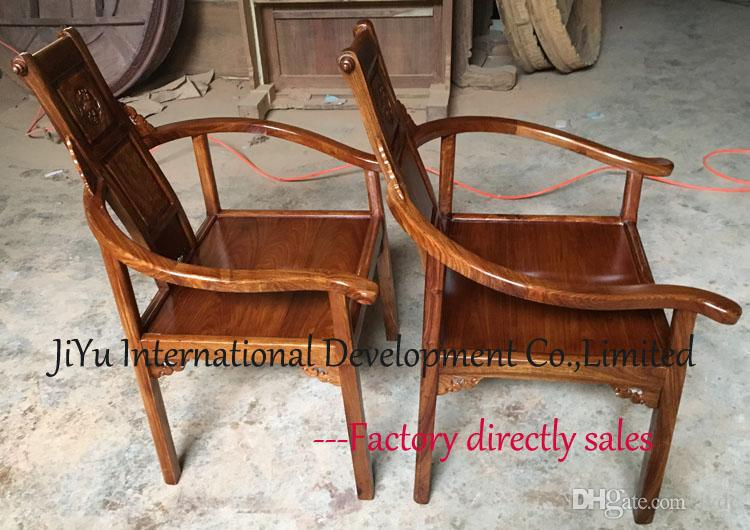 Luxury wood armchair chinese antique style furniture living room casual chairs coffee table chairs in 100% African Red sandalwood