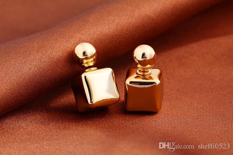 Caramelo de la manera Pendientes de Jewlery de calidad superior más colores de la Plaza Pendientes de Jewlery Para 12G4 joyería del regalo del amor de las mujeres