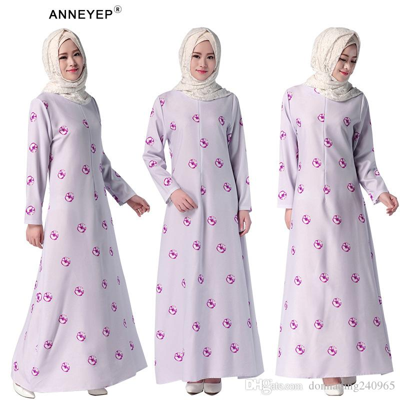 cf5dee159466c 2019 Dubai Islamic Jubah Islamic Dress Evening Dress Flower Printing  Ramadan Maxi Dress Beautiful Girl Muslim Casual Abaya Kaftan From  Donnatang240965, ...