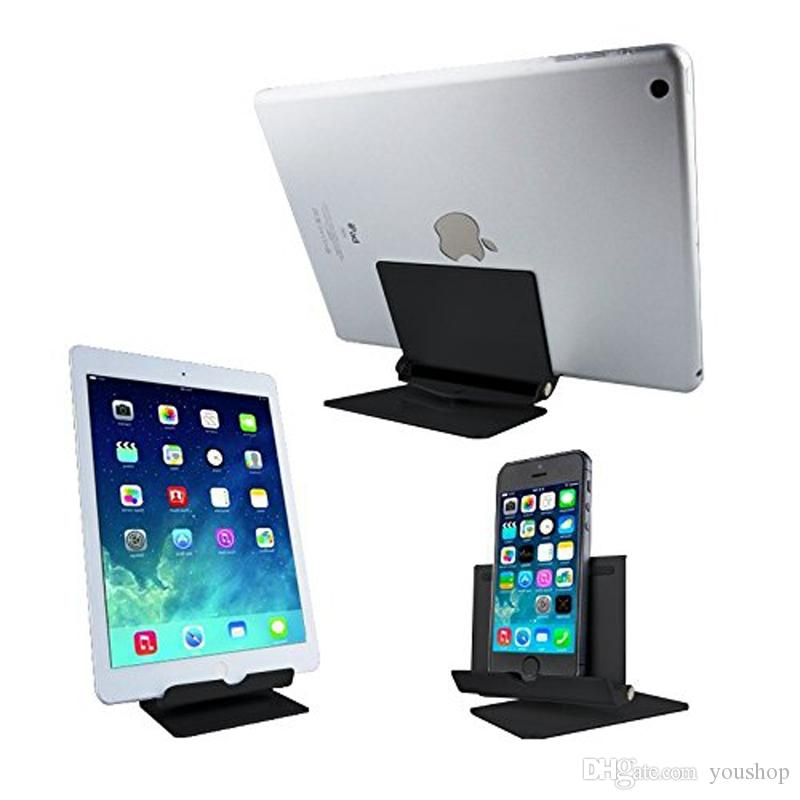 Aluminum Cell Phone Stand Security Desktop Holder Tablet Stand for iphone 8 / 7 / 7 plus for Samsung Smartphone for ipad Air 2