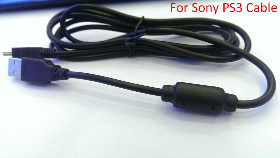 Alta qualidade usb cabo de carregamento para sony playstation 3 ps3 controlador sem fio comprimento 5.9ft 1.8 m dhl frete grátis 100 pçs / lote
