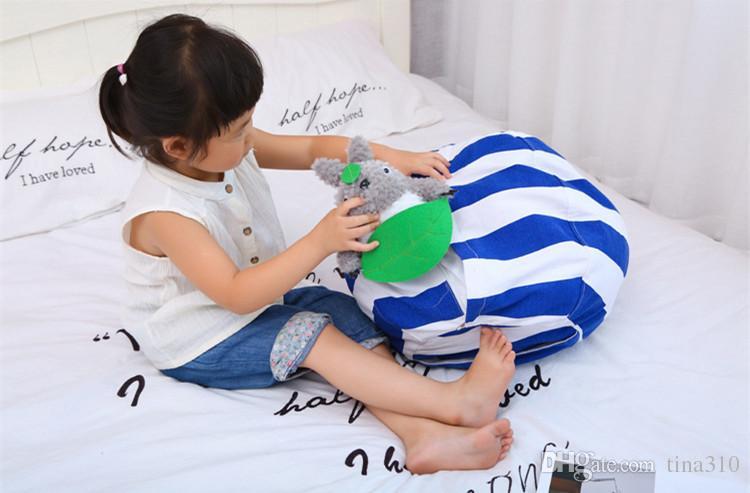 Kids Storage Bean Bags Plush Toys Beanbag Chair Bedroom Stuffed Animal Room Mats Portable Clothes Storage Bag IB559